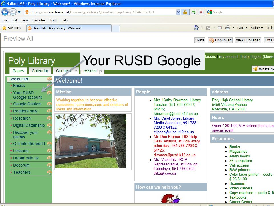 Your RUSD Google