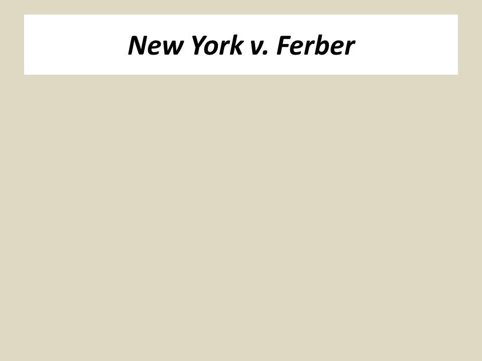 New York v. Ferber