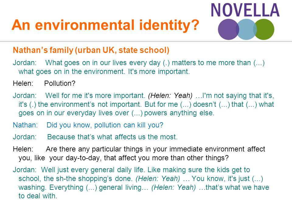 An environmental identity.