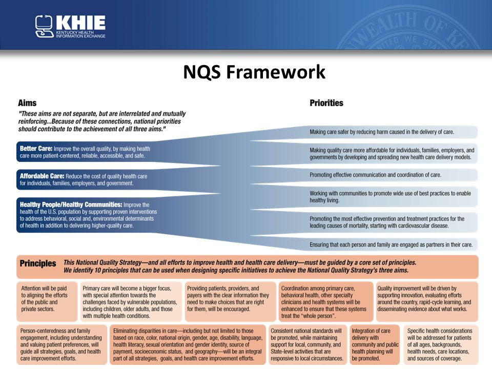 National Quality Initiative: Aims, Priorities and Goals for Improving Quality 1.