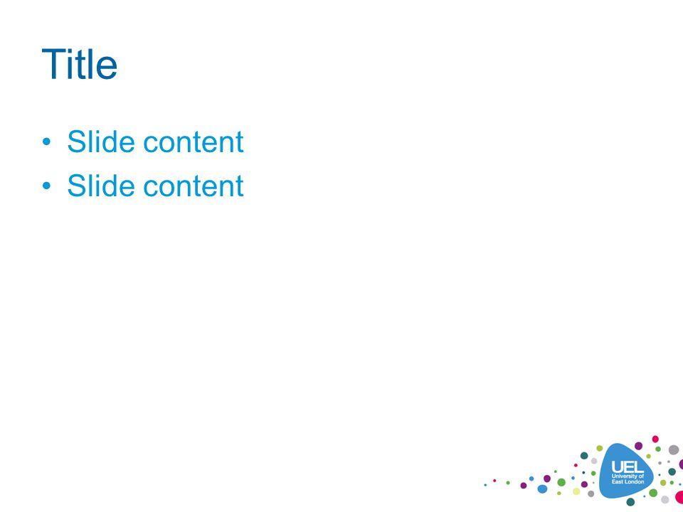 Title Slide content