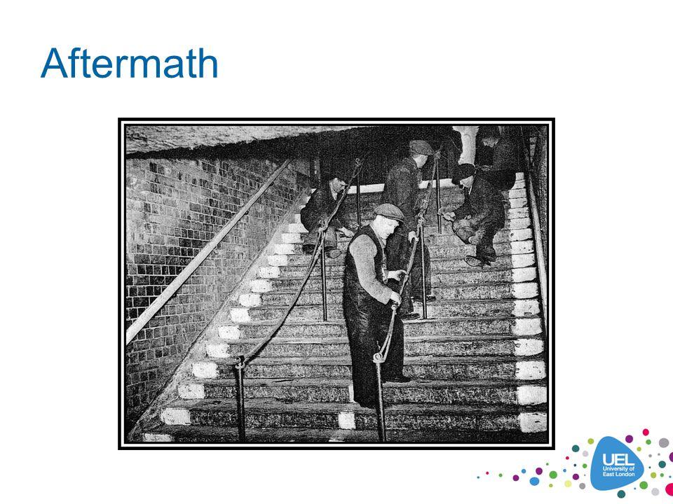 Contact Us Amy: a.t.murphy@uel.ac.uk Toby: tobybutler1@gmail.com Websites: www.bgmemorial.org.uk (under construction) www.stairwaytoheavenmemorial.org www.raphael-samuel.org.uk Facebook: Bethnal Green Disaster – Stairway to Heaven Memorial