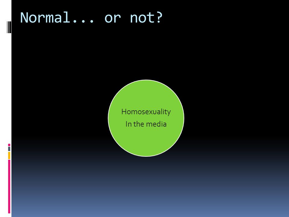 Homosexuality In the media Normal... or not?