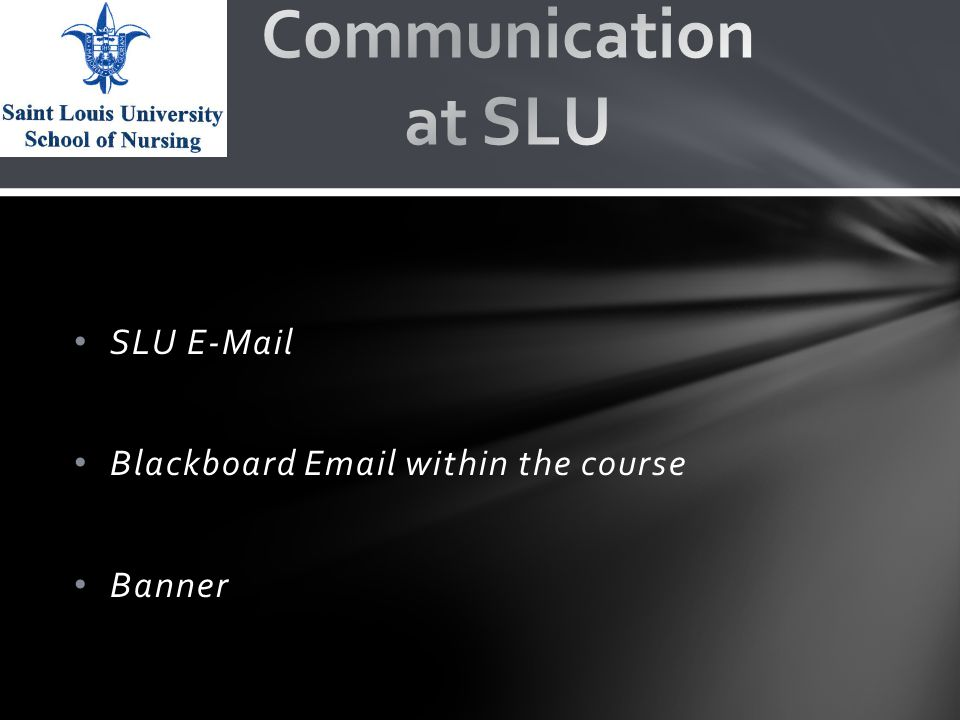 SLU E-Mail Blackboard Email within the course Banner