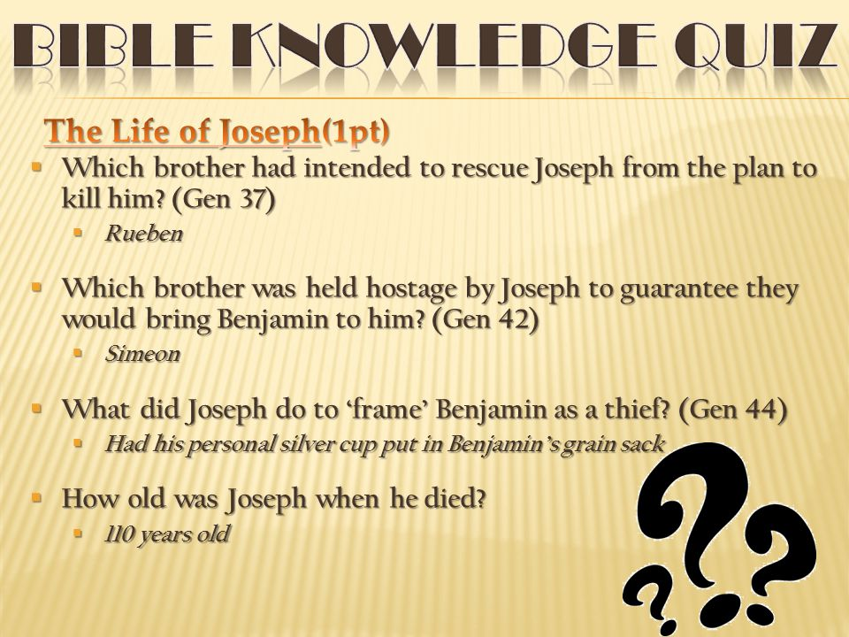  Which brother had intended to rescue Joseph from the plan to kill him.