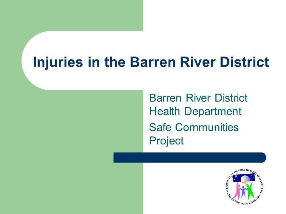Injuries in the Barren River District Barren River District Health Department Safe Communities Project
