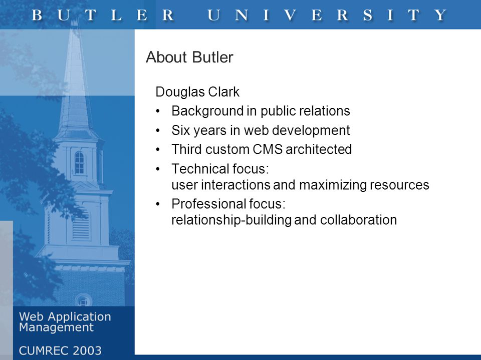 Discovery Gathered opinions and needs by meeting one-on- one with campus leaders Conducted comprehensive site audit Reviewed institutional mission, business goals and future initiatives Assessed web department: business practices, skills, long-term objectives Examined trends in the industry