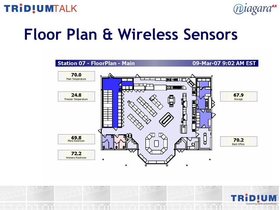 Floor Plan & Wireless Sensors