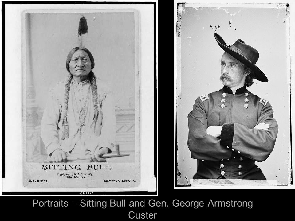 Portraits – Sitting Bull and Gen. George Armstrong Custer