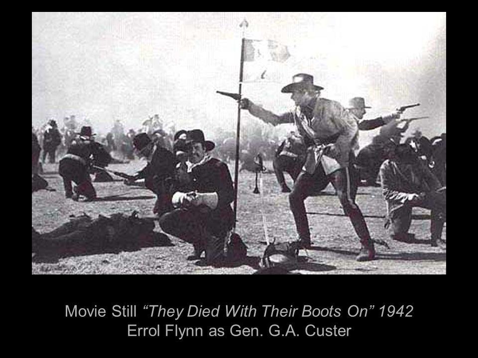 Movie Still They Died With Their Boots On 1942 Errol Flynn as Gen. G.A. Custer