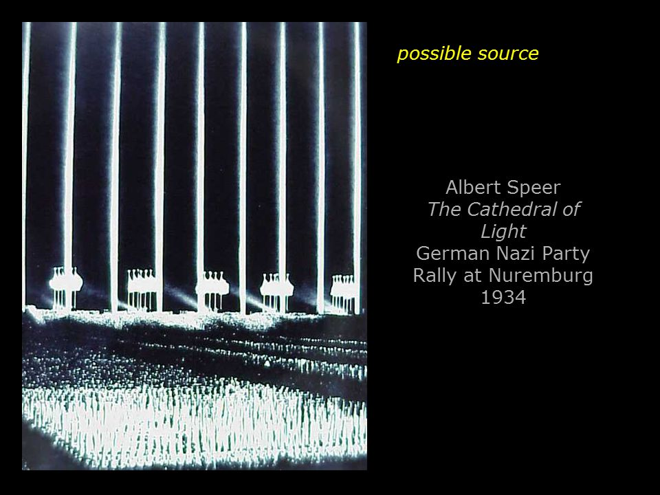 Albert Speer The Cathedral of Light German Nazi Party Rally at Nuremburg 1934 possible source