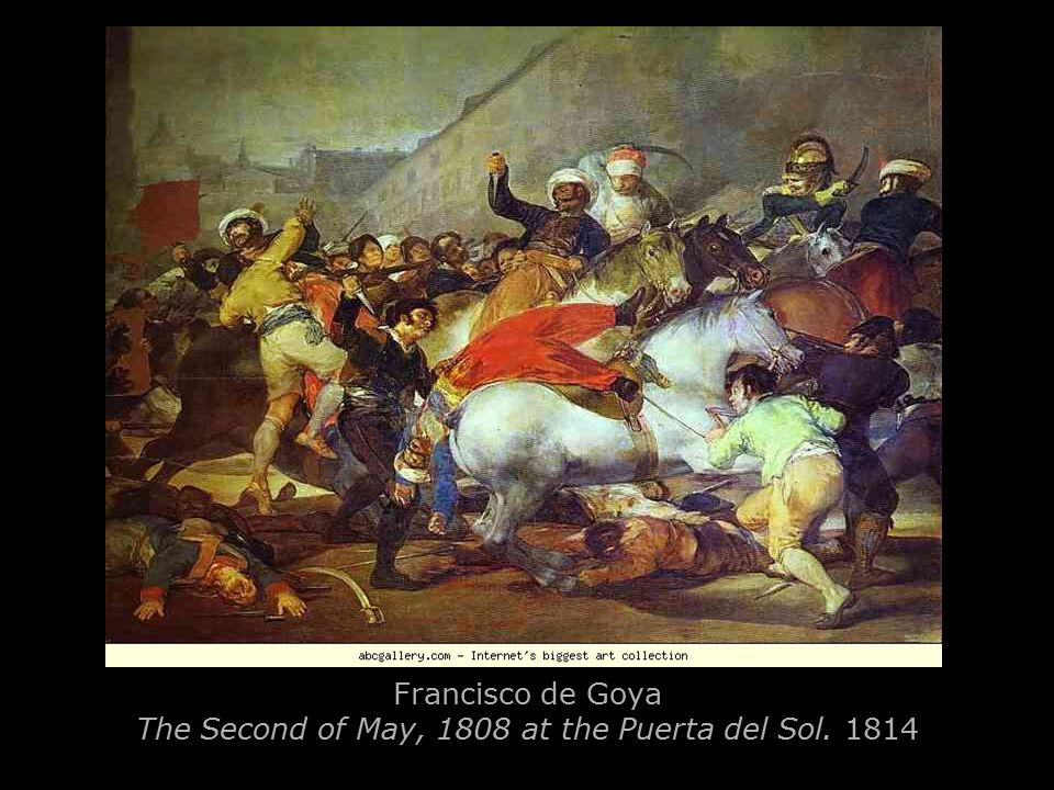 Francisco de Goya The Third of May, 1808: The Execution of the Defenders of Madrid. 1814