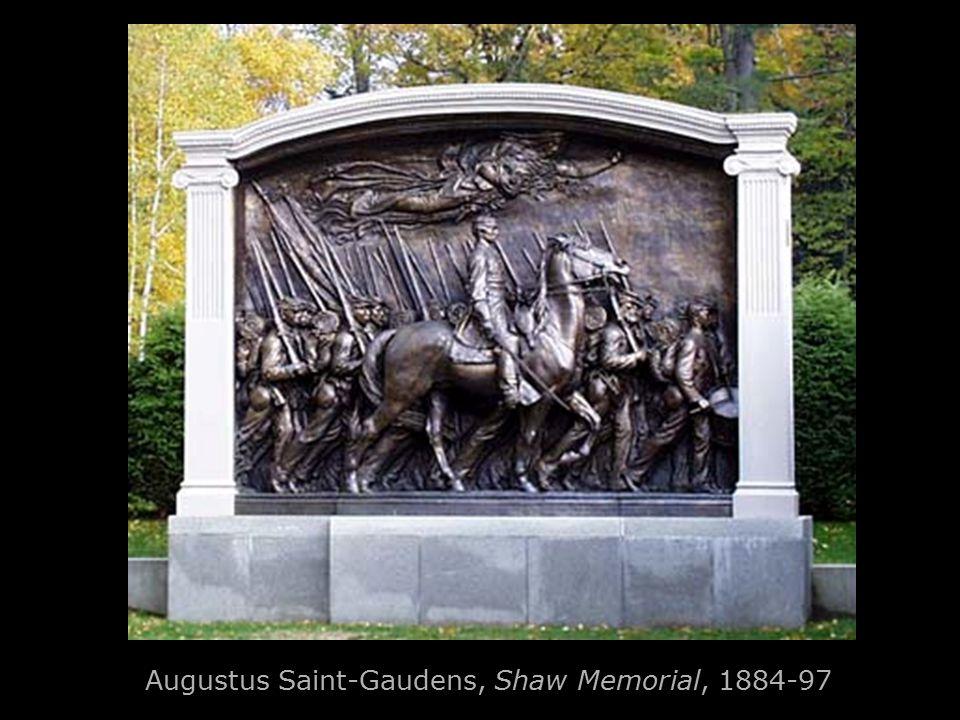 Augustus Saint-Gaudens, Shaw Memorial, 1884-97