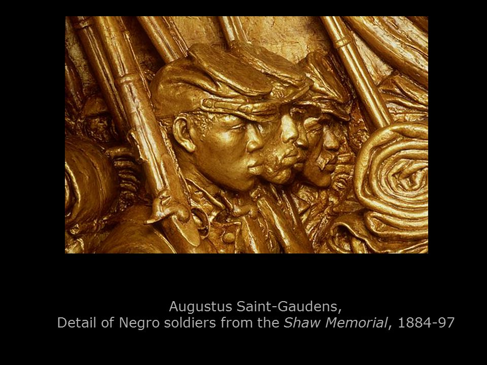 Augustus Saint-Gaudens, Detail of Negro soldiers from the Shaw Memorial, 1884-97