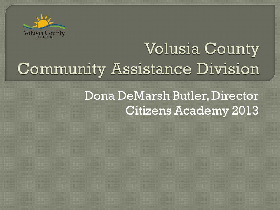 Dona DeMarsh Butler, Director Citizens Academy 2013
