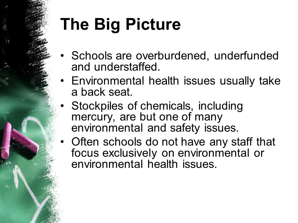 The Big Picture Schools are overburdened, underfunded and understaffed.