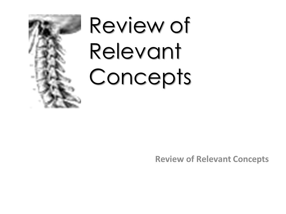 Review of Relevant Concepts