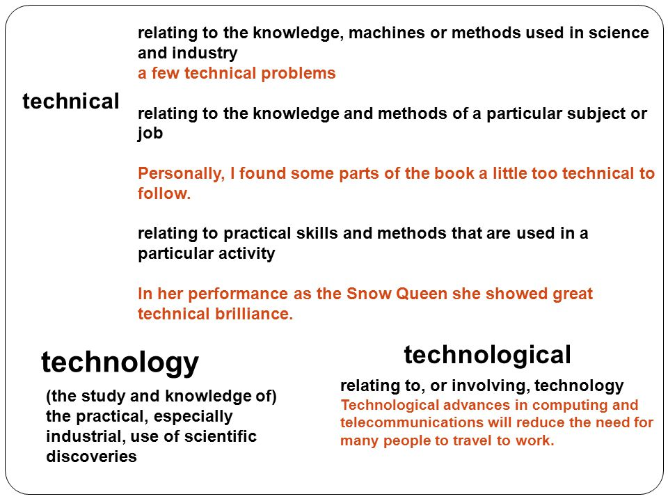 relating to the knowledge, machines or methods used in science and industry a few technical problems relating to the knowledge and methods of a partic