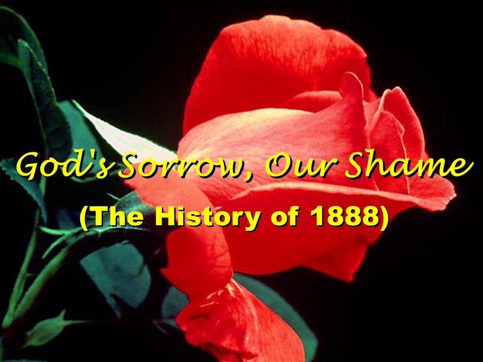 God's Sorrow, Our Shame (The History of 1888)