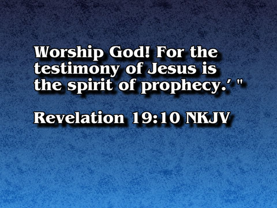 God has given them HIS message.They bear the word of the Lord...