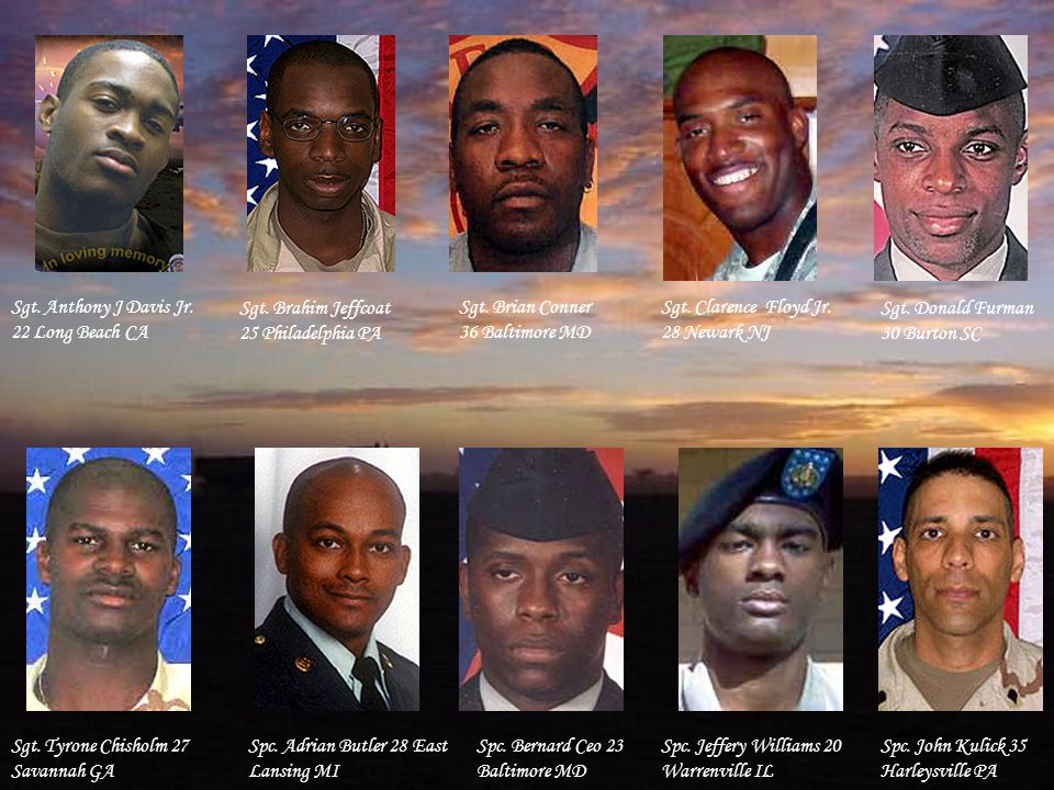 Spc. Toccara Green 23 Rosedale MD Lance Cpl. Andre Williams 23 Galloway OH Lance Cpl.
