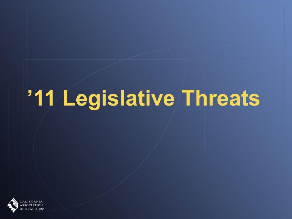 '11 Legislative Threats