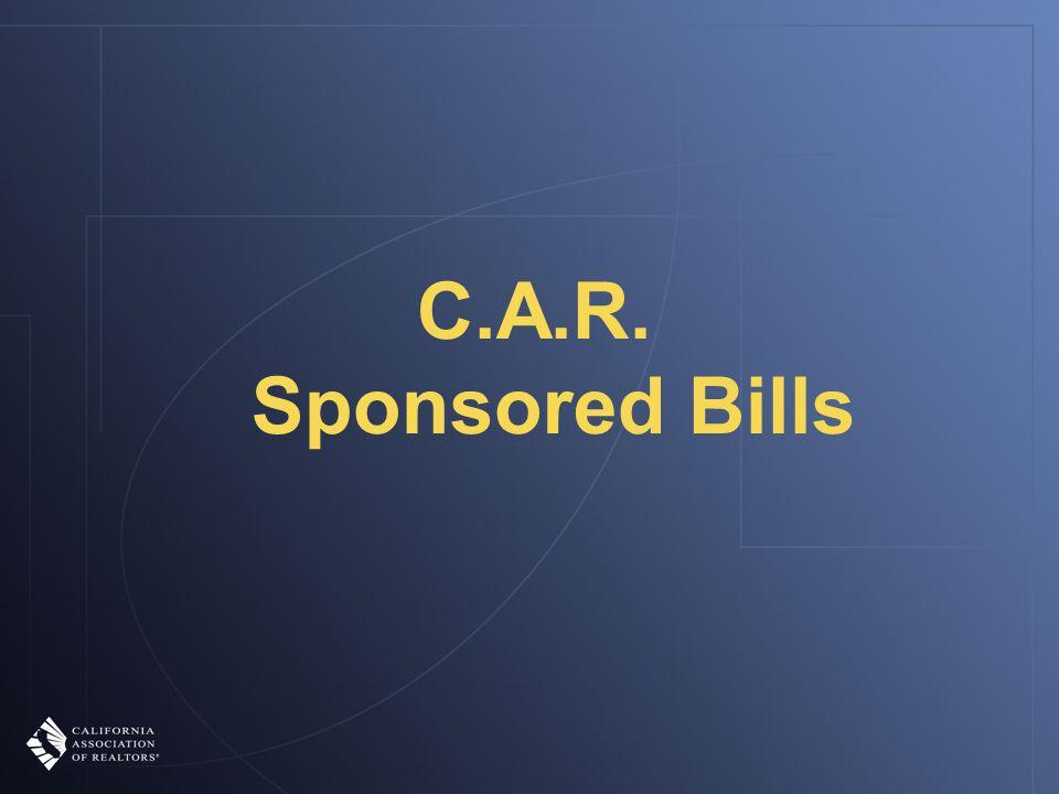 C.A.R. Sponsored Bills