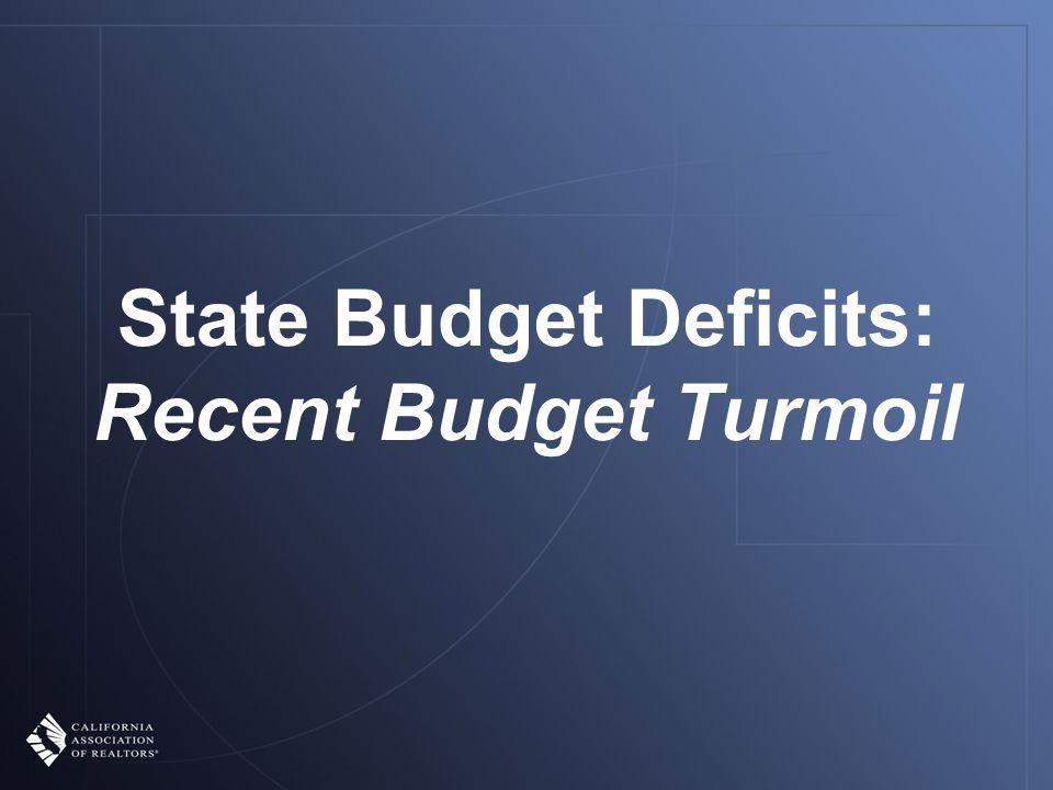 State Budget Deficits: Recent Budget Turmoil