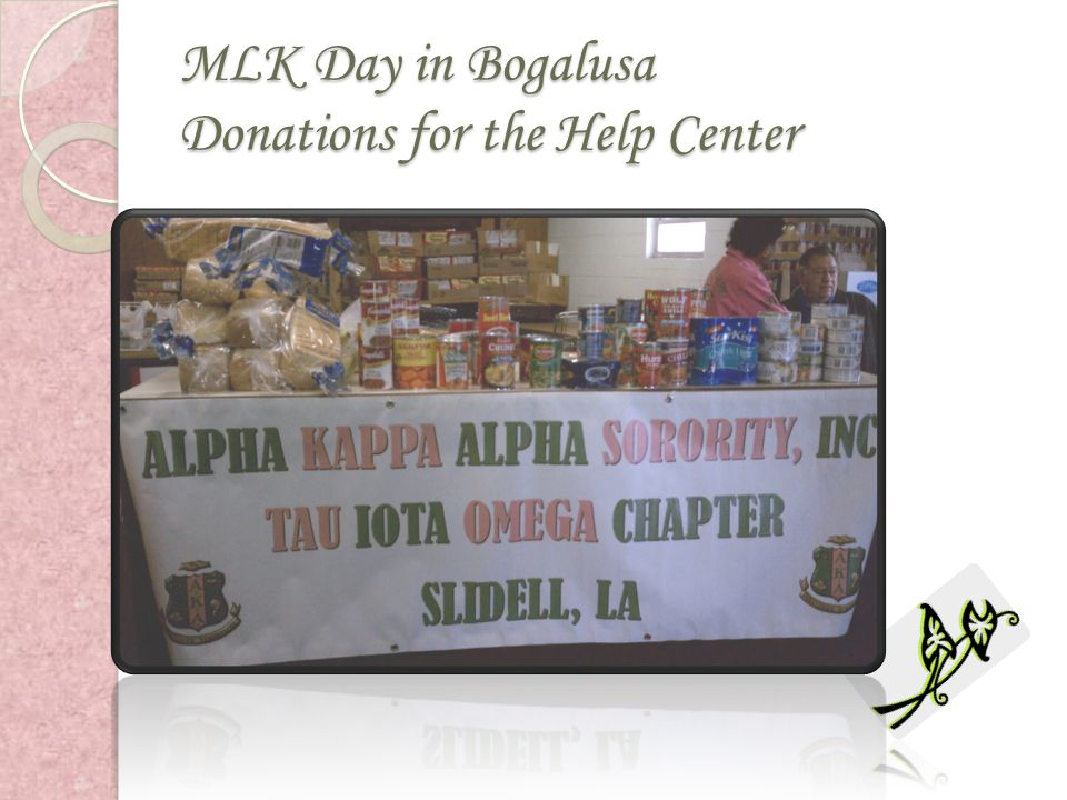 MLK Day in Bogalusa Donations for the Help Center