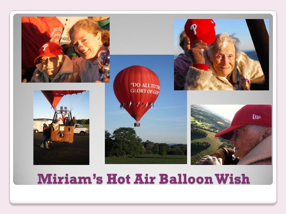 Miriam's Hot Air Balloon Wish