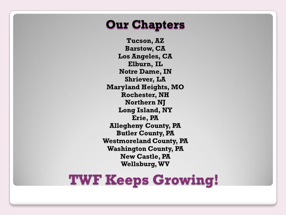 TWF Keeps Growing!