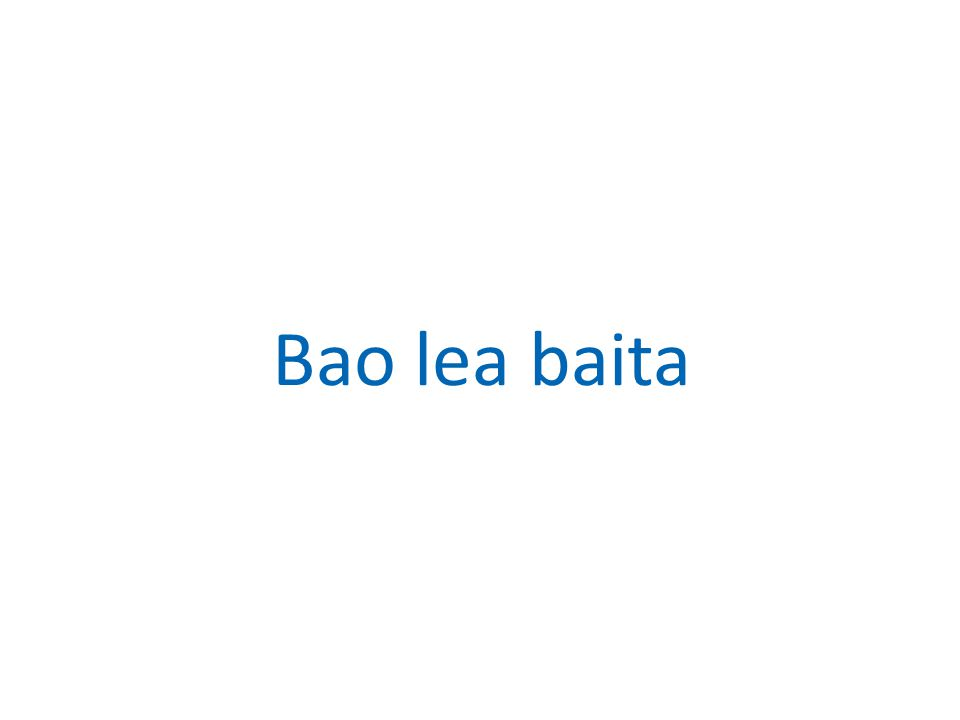 Bao lea baita