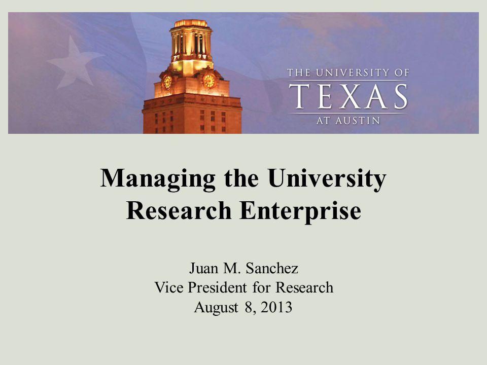 Managing the University Research Enterprise J Managing the University Research Enterprise Juan M.