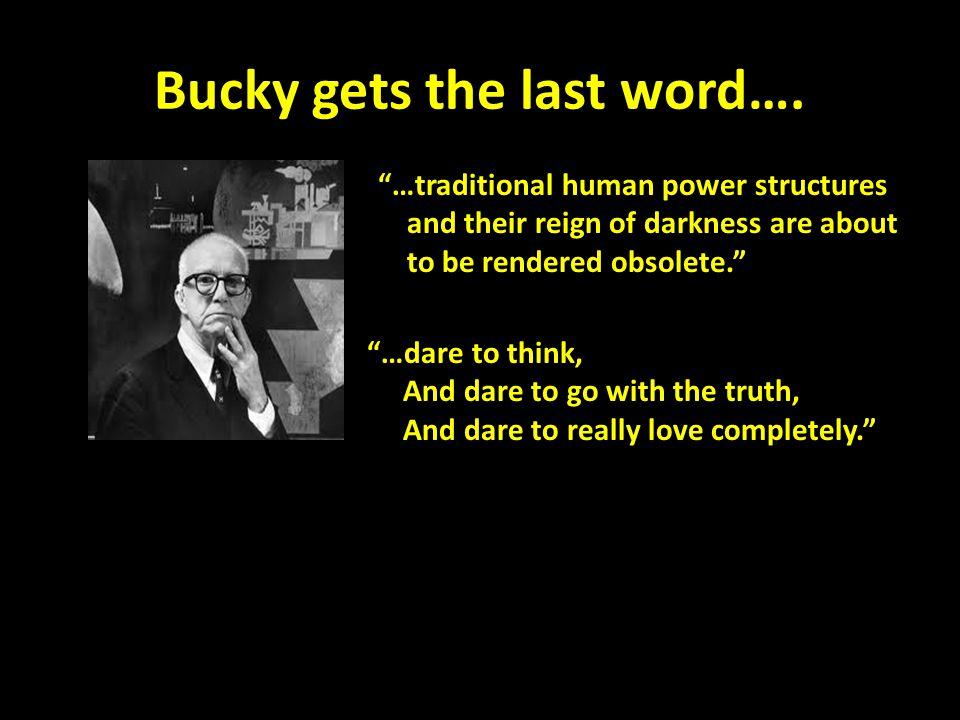 Bucky gets the last word….