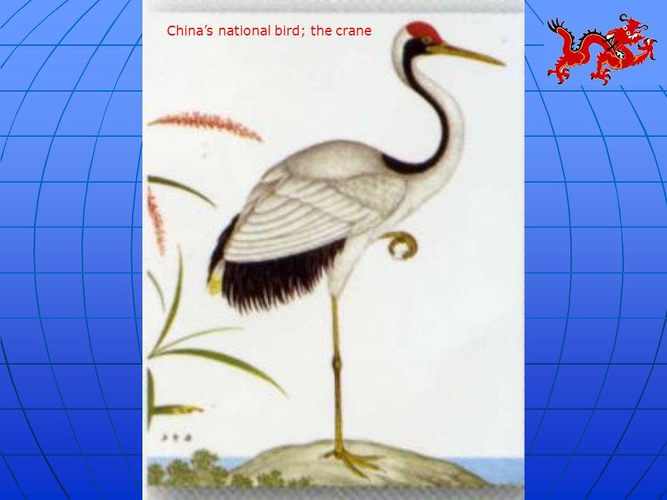 China's national bird; the crane