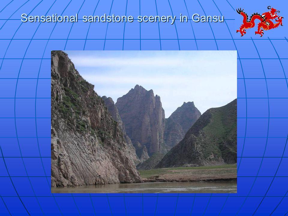 Sensational sandstone scenery in Gansu