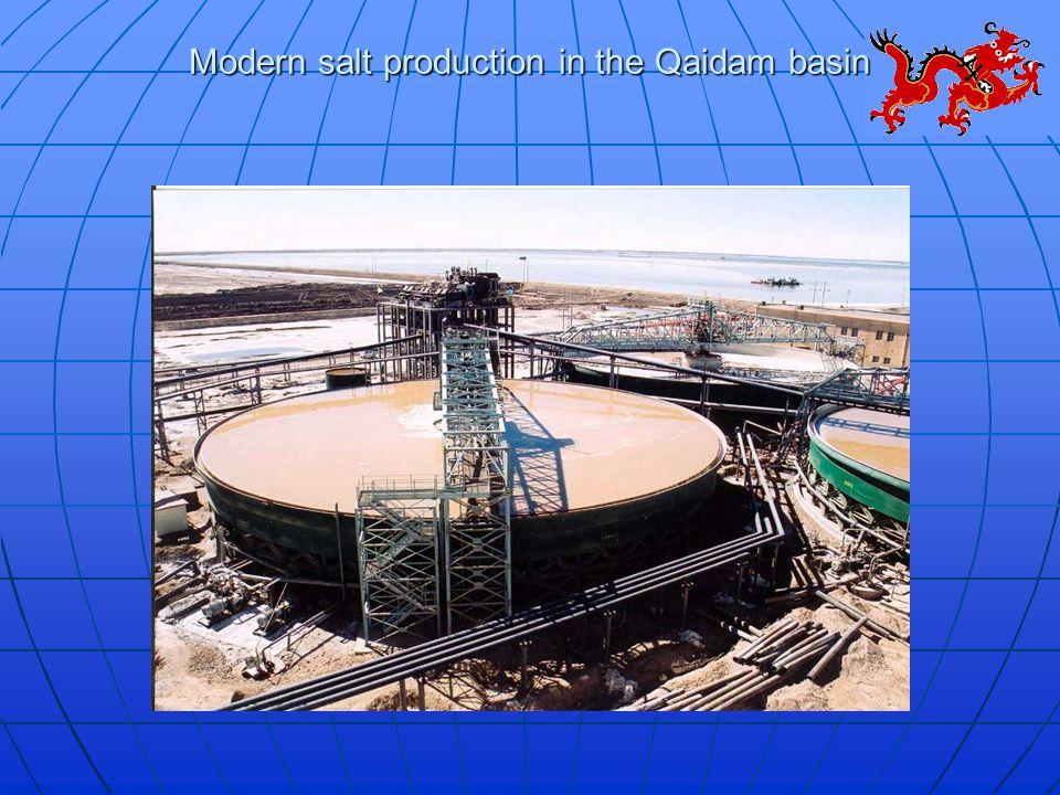Modern salt production in the Qaidam basin