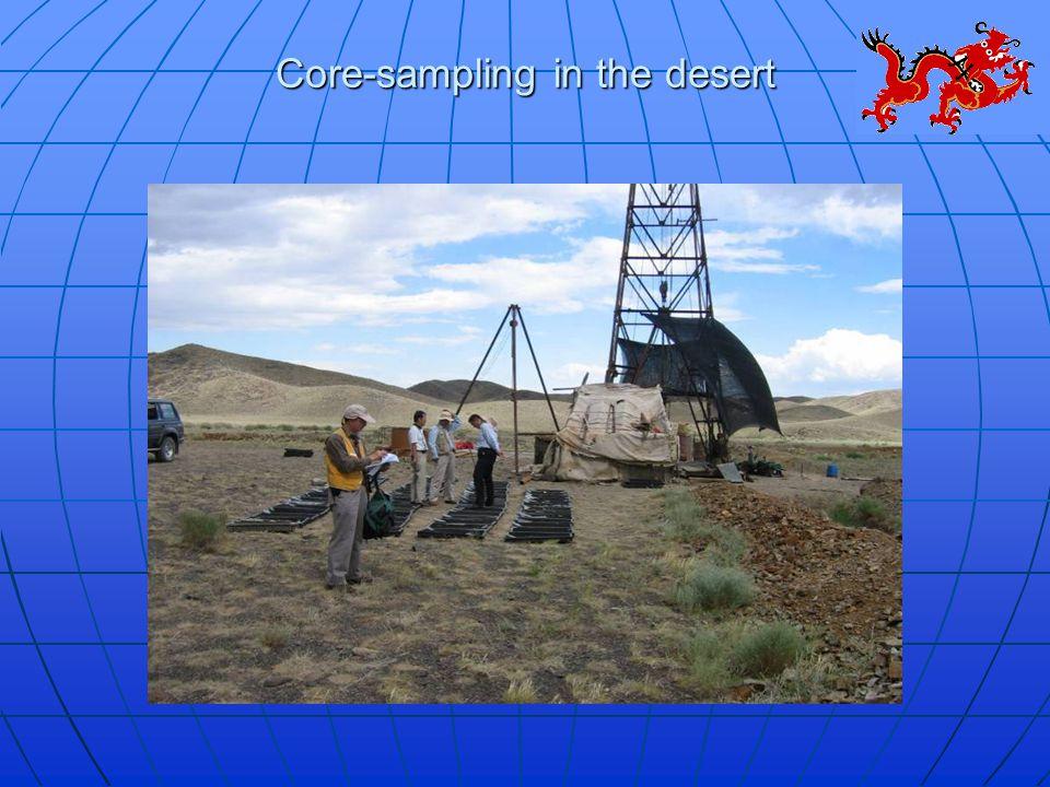 Core-sampling in the desert