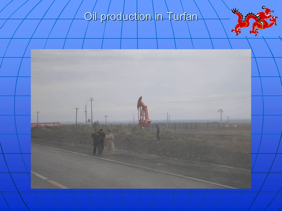 Oil production in Turfan