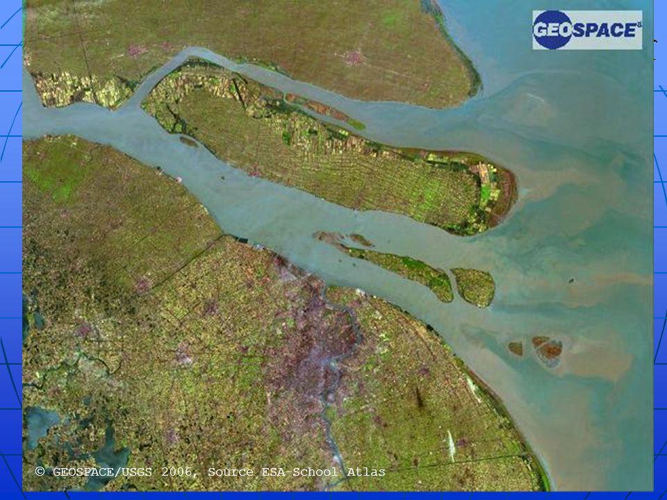  GEOSPACE/USGS 2006, Source ESA-School Atlas