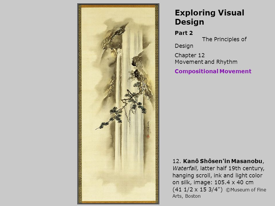 Exploring Visual Design Part 2 The Principles of Design Chapter 12 Movement and Rhythm Compositional Movement 12.