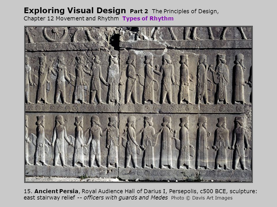 Exploring Visual Design Part 2 The Principles of Design, Chapter 12 Movement and Rhythm Types of Rhythm 15.