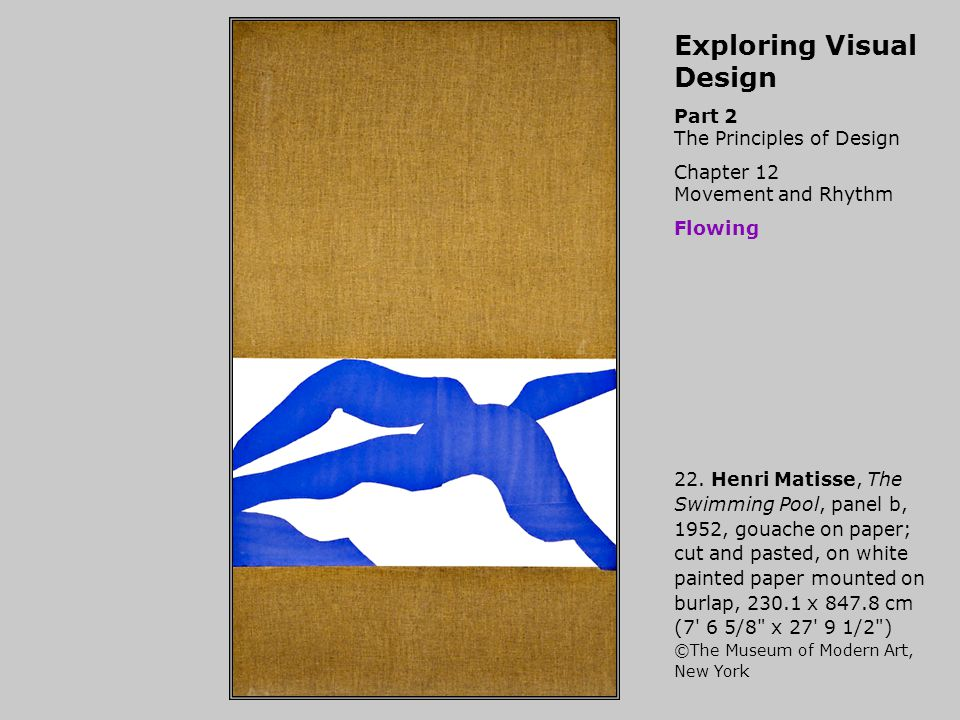Exploring Visual Design Part 2 The Principles of Design Chapter 12 Movement and Rhythm Flowing 22.