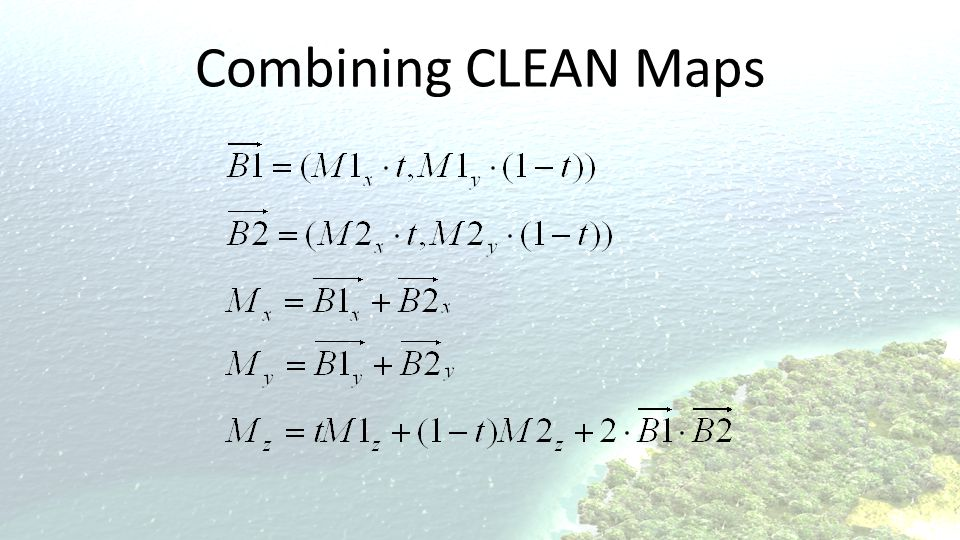 Combining CLEAN Maps