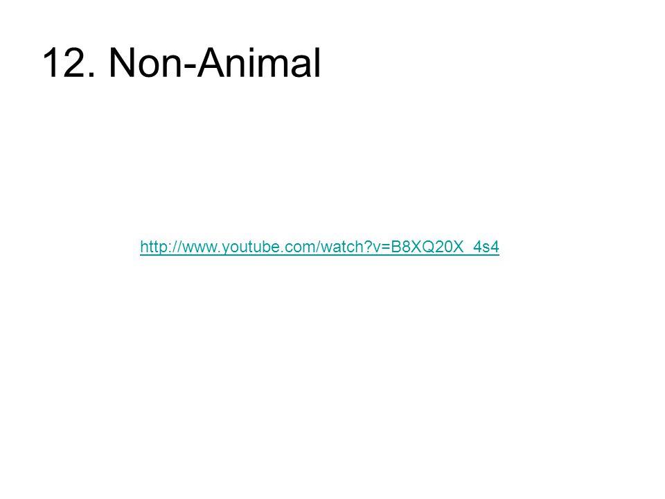 12. Non-Animal http://www.youtube.com/watch?v=B8XQ20X_4s4
