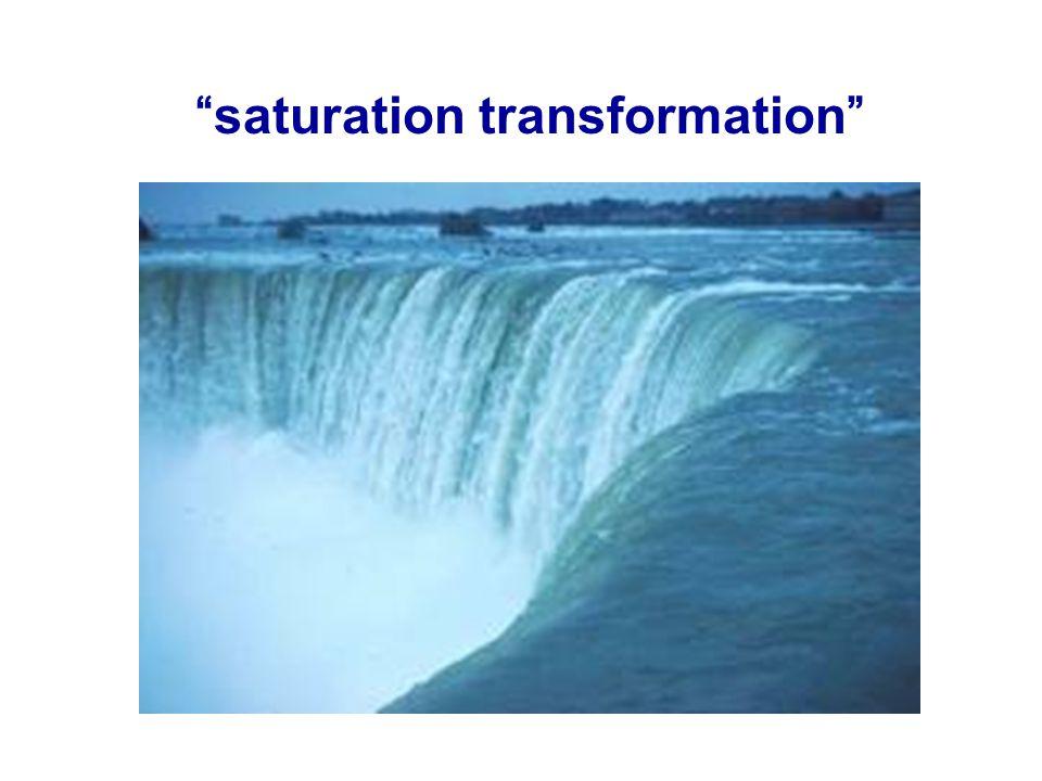 saturation transformation