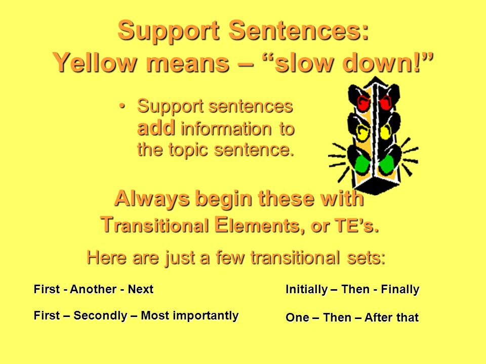 Power Statements topicnumber All you have to do is state your topic and use a number word.