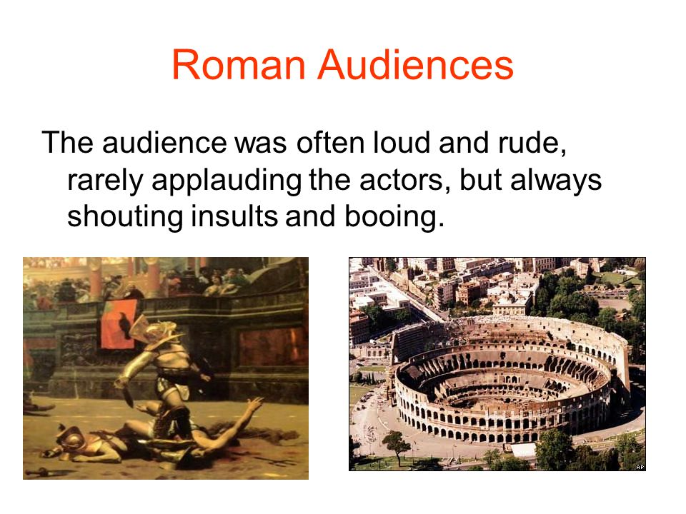Roman Actors The actors developed a kind of code that would tell the audience about the characters just by looking at them.
