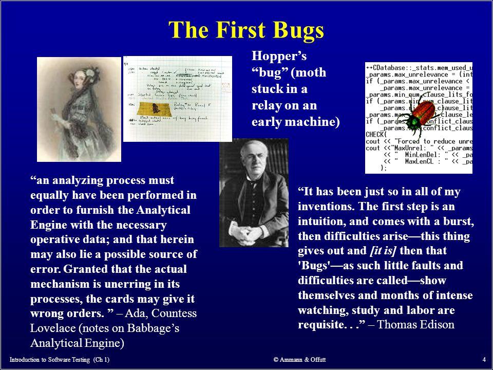Introduction to Software Testing (Ch 1) © Ammann & Offutt 65 3.