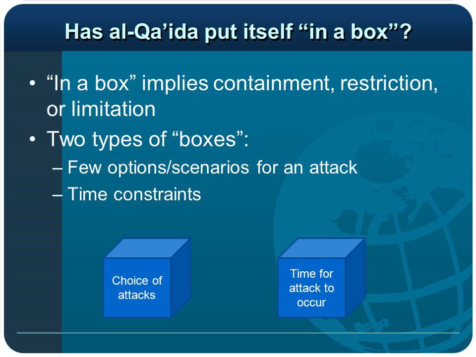 Has al-Qa'ida put itself in a box .